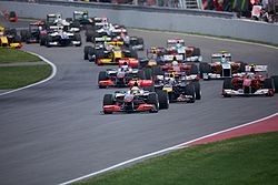 Start of the 2010 Canadian Grand Prix.  Image: Mark McArdle.