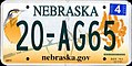 2011 Nebraska license plate 20-AG65.jpg