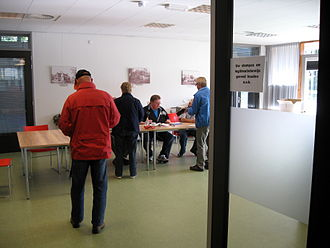 Dutch general election, 2012 - Polling station in Silvolde, Gelderland