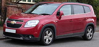 Chevrolet Orlando car manufactured by GM Korea under the Chevrolet division