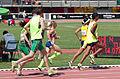 2013 IPC Athletics World Championships - 26072013 - Amanda Crotty and Kevin Nolan of Ireland, Elena Pautova of Russia, Maritza Arango Buitrago and Jonathan Sanchez Gonzalez of Colombia during the Women's 1500m - T12 first semifinal.jpg
