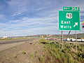 2014-06-10 18 32 16 Sign for Exit 352 along eastbound Interstate 80 in Wells, Nevada.JPG
