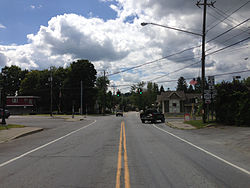 Intersection of NY 43 and NY 150 in West Sand Lake