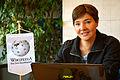 2015-10-28 Die Teemeisterin und Autorin Jana Roloff bei ihrer Anmeldung im Wikipedia-Büro Hannover.jpg