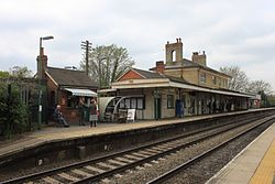 2015 at Romsey station - down platform.JPG