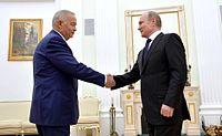 2016-04-25 Vladimir Putin with President of Uzbekistan Islam Karimov, 01