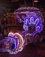 2016 Malakka, Kolorowe riksze rowerowe na Placu Holenderskim (04).jpg