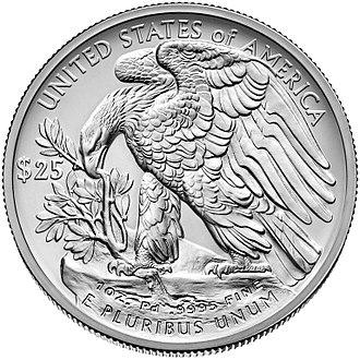 American Palladium Eagle - Image: 2017 $25 Palladium reverse