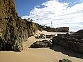 2018-02-01 Rocks and cliffs to the rear of Praia da Galé (East), Albufeira.JPG