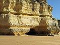 2018-02-02 Cliffs and cave on Praia de Coelha, Albufeira.JPG