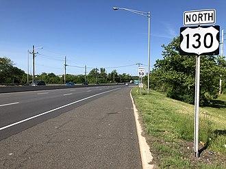 Delanco Township, New Jersey - US 130 on the southeast edge of Delanco