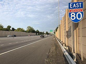 Parsippany-Troy Hills, New Jersey - I-80 eastbound in Parsippany-Troy Hills