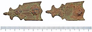 Strap - Image: 2018 Post Medieval strap fitting (Find ID 207414)