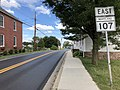 2019-06-19 16 16 31 View east along Maryland State Route 107 (Fisher Avenue) at Maryland State Route 109 (Elgin Road) in Poolesville, Montgomery County, Maryland.jpg