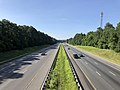 2019-06-24 09 21 39 View south along Interstate 95 from the overpass for an unnamed road in Smiths Mill, Spotsylvania County, Virginia.jpg