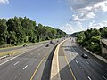 2019-07-05 17 46 01 View south at the end of Interstate 270 Spur from the overpass for Interstate 495 westbound (Capital Beltway) along the edge of North Bethesda and Potomac in Montgomery County, Maryland.jpg
