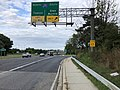 2019-08-24 17 56 47 View east along U.S. Route 40 (Baltimore National Pike) at the exit for Interstate 695 SOUTH (Glen Burnie) on the edge of Woodlawn and Catonsville in Baltimore County, Maryland.jpg