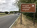 2019-09-13 14 02 51 View south along the George Washington Memorial Parkway at the first exit for Reagan National Airport in Arlington County, Virginia.jpg