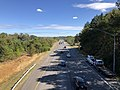 2019-10-10 14 13 24 View east along the eastbound lanes of Maryland State Route 32 (Patuxent Freeway) from the overpass for Shaker Drive in Columbia, Howard County, Virginia.jpg