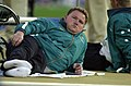 231000 - Athletics discus F34 final Stephen Eaton relaxes - 3b - 2000 Sydney event photo.jpg
