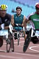 231000 - Athletics wheelchair racing 10km final John Maclean waits - 3b - 2000 Sydney race photo.jpg