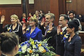 Alaska Legislature - The swearing-in ceremony for the 28th Alaska Legislature.