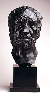 <i>Man with the Broken Nose</i> sculpture by Auguste Rodin