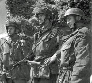 6th Airlanding Brigade (United Kingdom) - Men of the 2nd Battalion, Oxfordshire and Buckinghamshire Light Infantry, part of the 6th Airlanding Brigade, in Normandy, June 1944.
