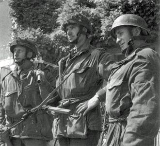6th Airborne Division (United Kingdom) - Glider infantry of the 2nd Battalion, Oxfordshire and Buckinghamshire Light Infantry, of the 6th Airlanding Brigade, 6th Airborne Division, in Normandy 1944.