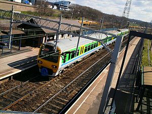 Bescot Stadium railway station - Image: 323201 at Bescot