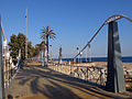 330 Pont sobre la riera, al passeig marítim (Canet de Mar).JPG