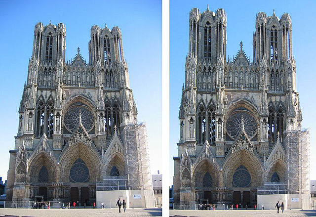 File:405px-Cathedral Notre-Dame de Reims, France Combo.jpg ...