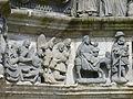 4365.L-Maria über das Jesuskind Gebeugt umgeben von Joseph & 2 Engeln-Daneben Hirte mit Engel-FluchMaria das Jesus Kind in ihren Armen haltend&auf dem Esel sitzend-Daneben Joseph mit Hut und Stock.JPG