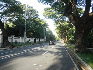 McKinley Road road in the Philippines