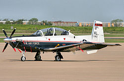 A Beechcraft T-6 Texan II of the 47th Flying Training Wing based at Laughlin AFB, Texas