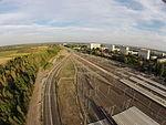 4 - Dzielnica mieszkaniowa Łódź Widzew i Dworzec Kolejowy Dji Phantom 3.JPG