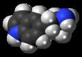 5-(2-Aminopropyl)indole molecule spacefill.png
