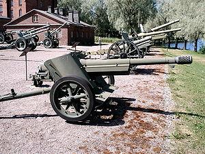 7.5 cm Pak 97/38 - Pak 97/38 displayed in The Artillery Museum of Finland, Hämeenlinna.