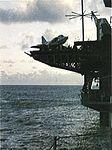 A-4C of VSF-1 on elevator of USS Yorktown (CVS-10) in 1969.jpg