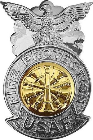 Air Force Fire Protection Badge - United States Air Force Fire Chief/Marshal Badge