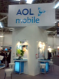 Aol Corporate Office To An Aol Mobile Sign At Gsma Barcelona 2008 Wikipedia