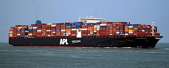 American President Lines - Image: APL Sentosa (ship, 2014) 002