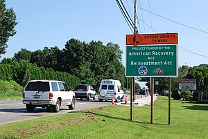 The New New Deal - This Middletown, Rhode Island road project, like many others across the U.S., took place in August 2009 as part of the ARRA program.