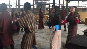 "File:A Bhutanese Folk dance that says, ""See you next year with same good health and happiness,"".webm"