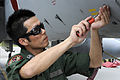 A JASDF Technical Sergeant performs a preflight inspection on a F-15J prior to RED FLAG-Alaska 12-2, -5 Jun. 2012 a.jpg