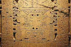 Peruvian art - A detail of the Raimondi Stela. This stela was found out of its original placement at the ceremonial complex, Chavín de Huantar. It was cited by Pablo Picasso as an inspiration for his art.