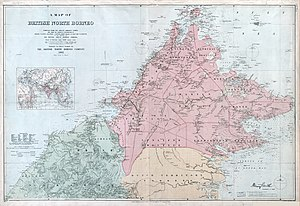 North Borneo - North Borneo border, 1903.