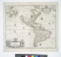A new mapp of America - devided according to the best and latest observations and discoveries, wherein are described by their proper names, the seaverall countries that belonge to ye English. NYPL434541.tiff