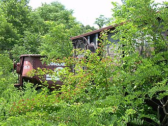Ghost Town Trail - Abandoned coal cars along the trail