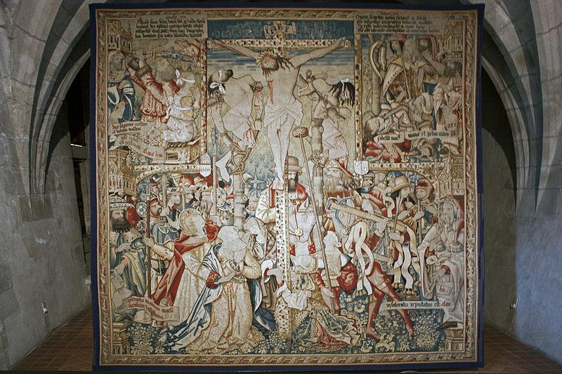 file abbaye robert de la chaise dieu tapisserie de la crucifixion 201121007 jpg
